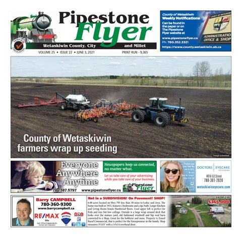 Wetaskiwin/Millet Pipestone Flyer, June 3, 2021