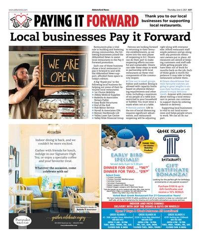 Pay it Forward June 2021