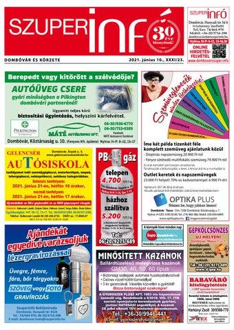 Dombóvári Szuperinfó 2021. 23. szám