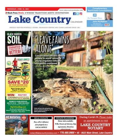 Lake Country Calendar, June 10, 2021
