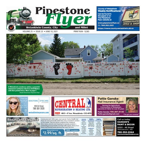 Wetaskiwin/Millet Pipestone Flyer, June 10, 2021