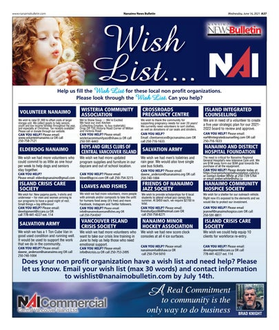 Wish List - June 16, 2021