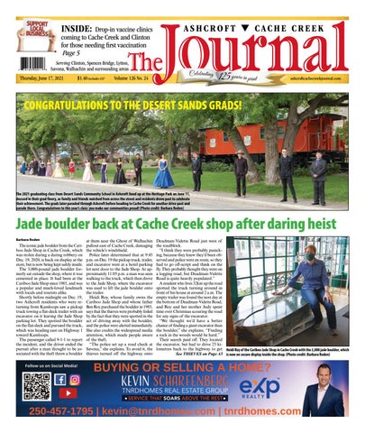 Ashcroft Cache Creek Journal, June 17, 2021