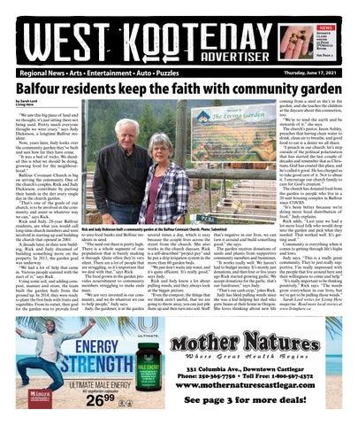 Rossland News/West Kootenay Advertiser, June 17, 2021