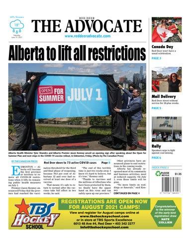 Red Deer Advocate, June 19, 2021