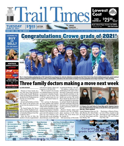 Trail Daily Times/West Kootenay Advertiser, June 22, 2021