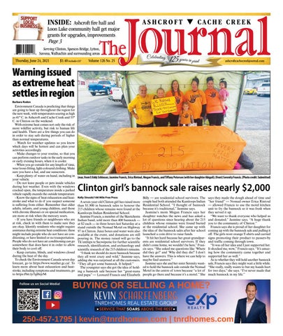 Ashcroft Cache Creek Journal, June 24, 2021