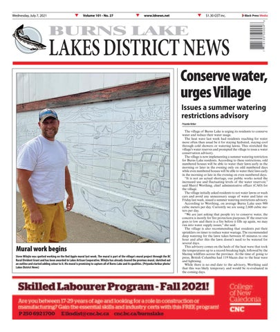 Burns Lake Lakes District News, July 7, 2021