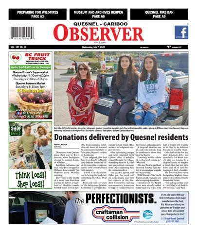 Quesnel Cariboo Observer, July 7, 2021