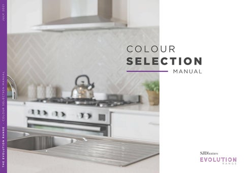 SJD Homes Evolution Range | Colour Selection Manual