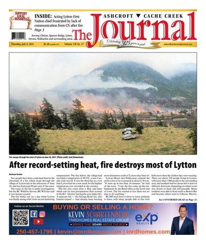 Ashcroft Cache Creek Journal, July 8, 2021