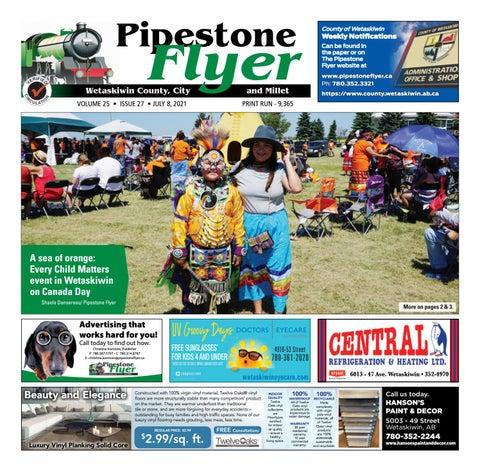 Wetaskiwin/Millet Pipestone Flyer, July 8, 2021