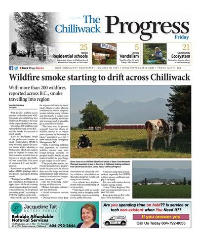 Chilliwack Progress, July 9, 2021