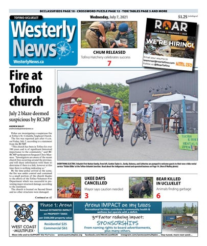 Tofino-Ucluelet Westerly News, July 7, 2021