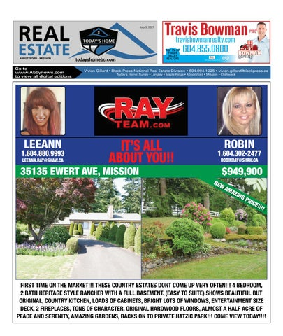 July 09, 2021 Real Estate Weekly - Abbotsford