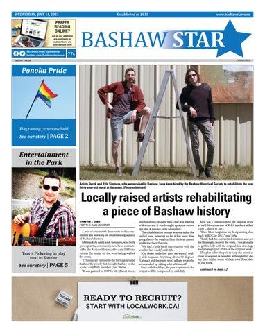 Bashaw Star, July 14, 2021