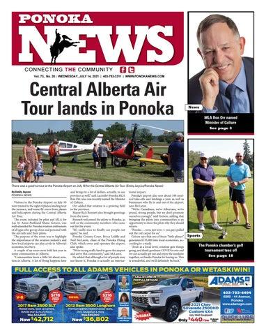 Ponoka News, July 14, 2021