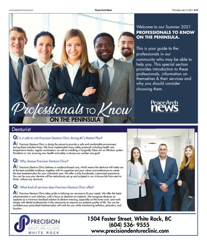Professionals to Know July 15, 2021