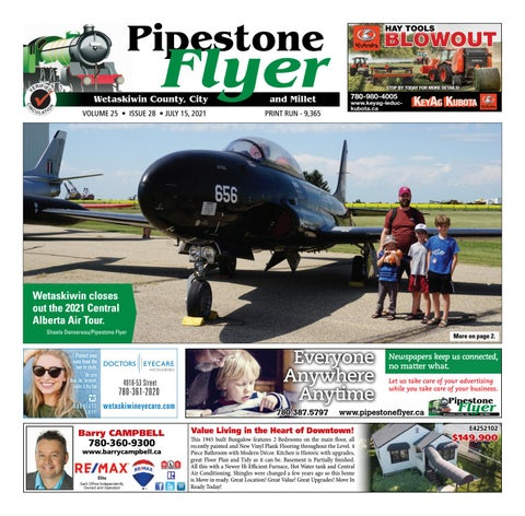 Wetaskiwin/Millet Pipestone Flyer, July 15, 2021