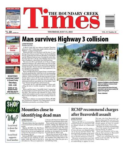 Boundary Creek Times, July 15, 2021