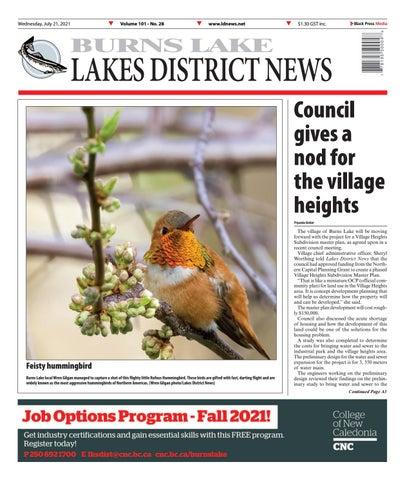 Burns Lake Lakes District News, July 21, 2021