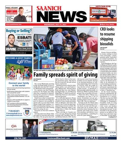 Saanich News, July 21, 2021
