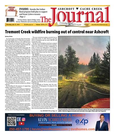 Ashcroft Cache Creek Journal, July 22, 2021