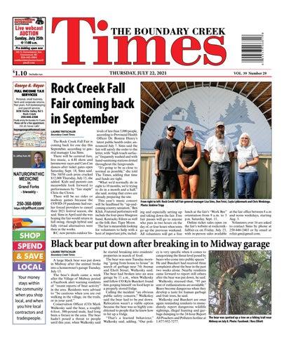 Boundary Creek Times, July 22, 2021