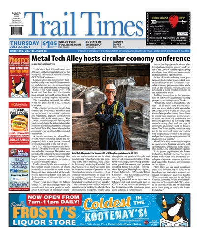Trail Daily Times/West Kootenay Advertiser, July 22, 2021