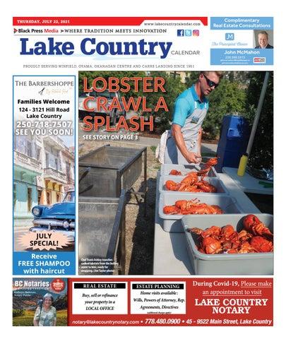 Lake Country Calendar, July 22, 2021