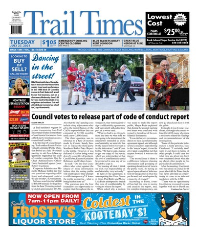 Trail Daily Times/West Kootenay Advertiser, July 27, 2021