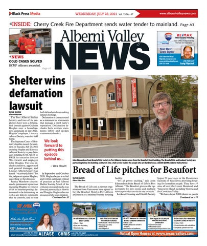 Alberni Valley News, July 28, 2021