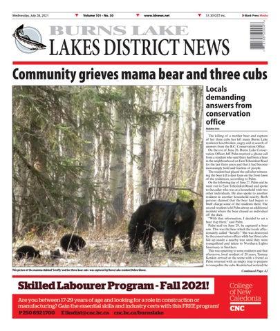 Burns Lake Lakes District News, July 28, 2021