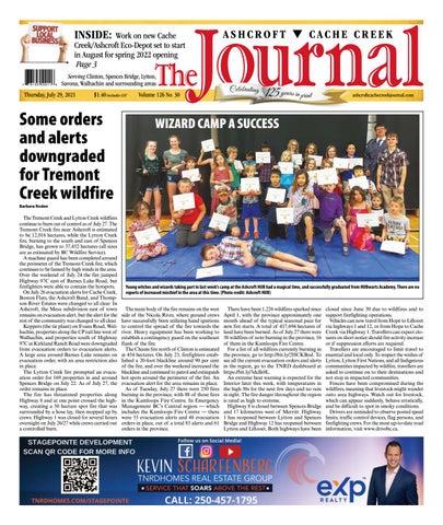 Ashcroft Cache Creek Journal, July 29, 2021