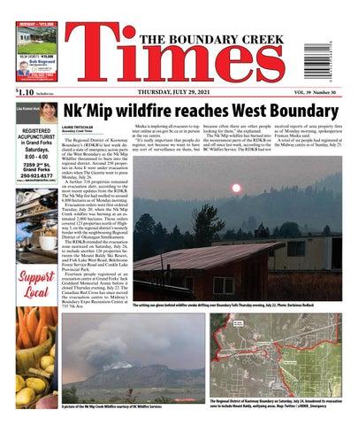 Boundary Creek Times, July 29, 2021