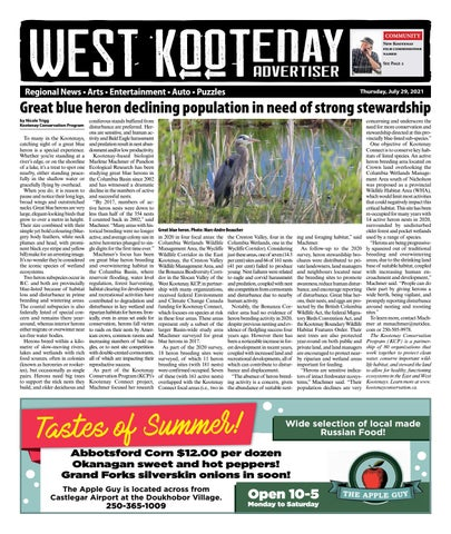 Trail Daily Times/West Kootenay Advertiser, July 29, 2021