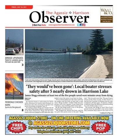 Agassiz Observer, July 30, 2021
