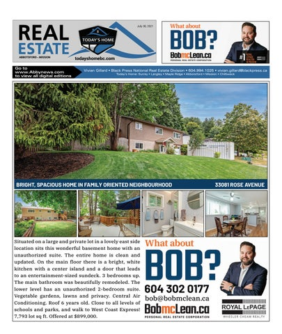 July 30, 2021 Real Estate Weekly - Abbotsford
