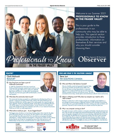 Professionals to Know in The Fraser Valley