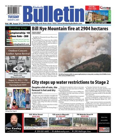 Kimberley Daily Bulletin, August 3, 2021