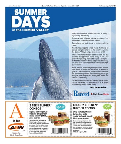 August 04, 2021 Comox Valley Record