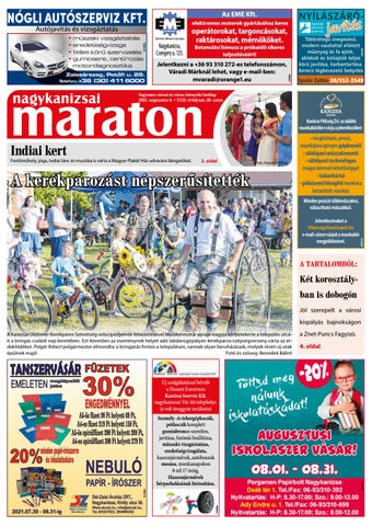 Nagykanizsai Maraton - 2021. 08. 06.