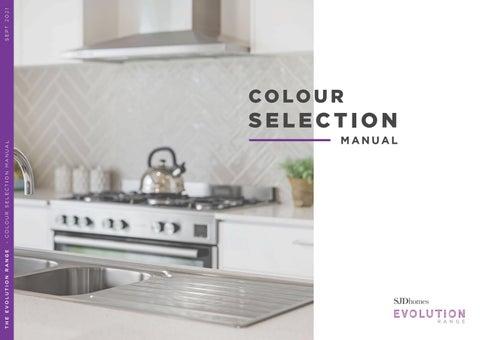 Evolution Range | Colour Selection Manual | September 2021
