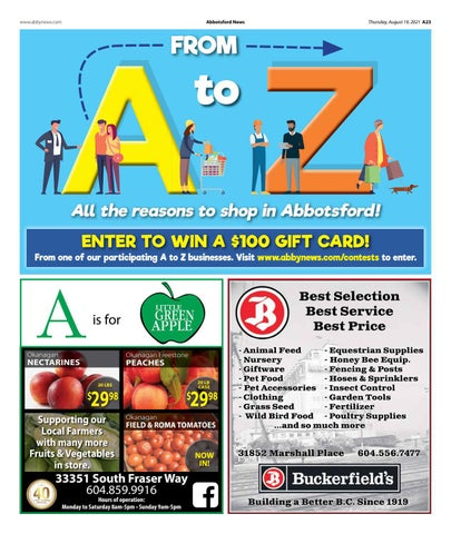 A to Z All the reasons to shop in Abbotsford