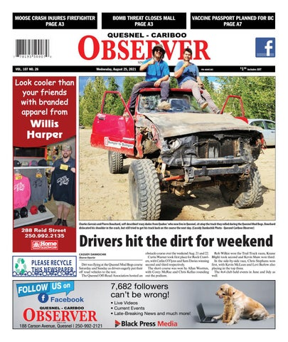 Quesnel Cariboo Observer, August 25, 2021