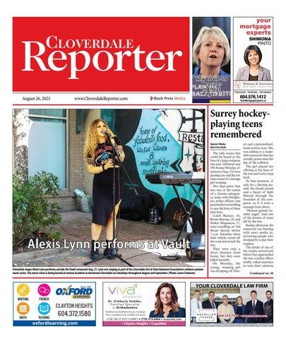 Cloverdale Reporter, August 26, 2021