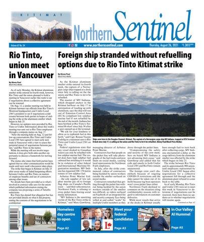 Kitimat Northern Sentinel/Northern Connector, August 26, 2021