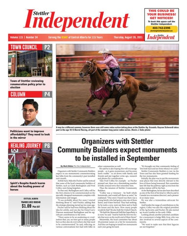 Stettler Independent, August 26, 2021