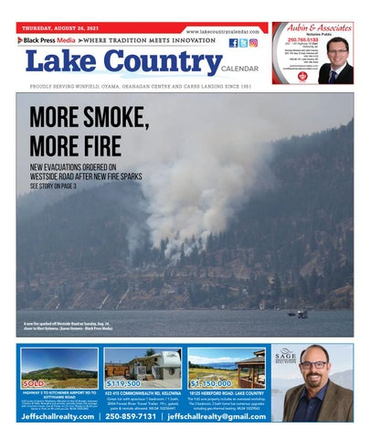 Lake Country Calendar, August 26, 2021