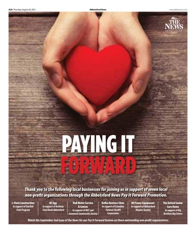 Pay it Forward August 2021